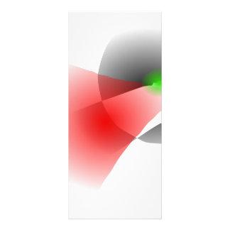 Espacio en blanco simple tarjeta publicitaria a todo color
