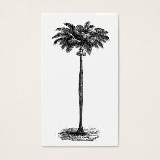 Espacio en blanco tropical de la plantilla de la tarjetas de visita