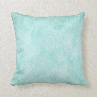 Espacio en blanco verde azul claro del fondo del cojín