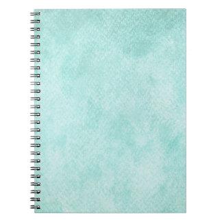 Espacio en blanco verde azul claro del fondo del note book