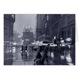 Espacio en blanco vintage Nueva York en una noche Tarjeton