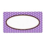 Espacio en blanco violeta púrpura elegante del mod etiqueta de envío