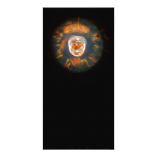 Espacio esquimal de Hubble de la nebulosa Tarjeta Con Foto Personalizada