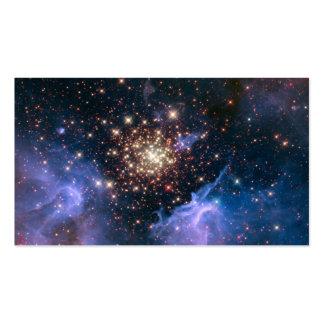 Espacio estrellado de la astronomía de la supernov plantilla de tarjeta de visita