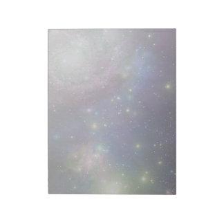 Espacio, estrellas, galaxias y nebulosas bloc de papel