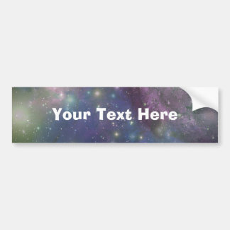 Espacio, estrellas, galaxias y nebulosas etiqueta de parachoque