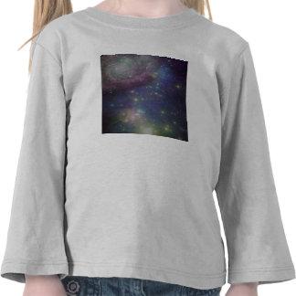 Espacio estrellas galaxias y nebulosas camisetas