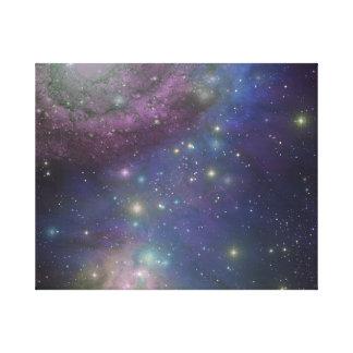 Espacio, estrellas, galaxias y nebulosas impresiones en lienzo estiradas