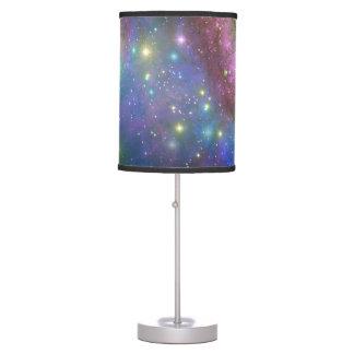 Espacio, estrellas, galaxias y nebulosas lámpara de escritorio