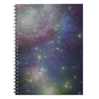 Espacio, estrellas, galaxias y nebulosas libretas espirales