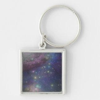 Espacio, estrellas, galaxias y nebulosas llavero personalizado