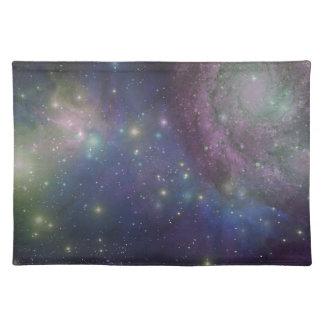 Espacio estrellas galaxias y nebulosas mantel individual