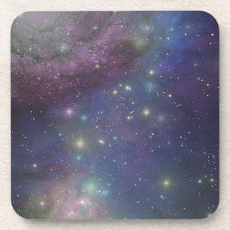 Espacio, estrellas, galaxias y nebulosas posavasos