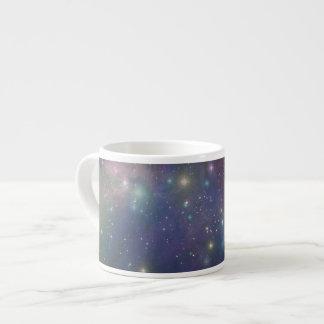 Espacio, estrellas, galaxias y nebulosas tazita espresso