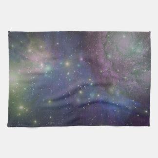 Espacio, estrellas, galaxias y nebulosas toallas de cocina