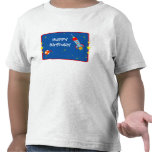 Espacio exterior 1 camiseta del cumpleaños