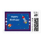 Espacio exterior 1 franqueo del cumpleaños