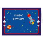 Espacio exterior 1 tarjeta de cumpleaños