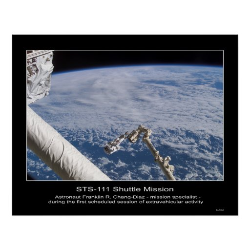 Espacio exterior de Franklin R. Chang-Díaz del ast Póster