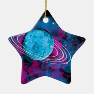 Espacio exterior adorno de cerámica en forma de estrella