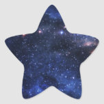 Espacio exterior hermoso pegatina forma de estrella personalizada