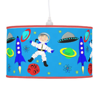 Espacio exterior lindo temático lámpara de techo