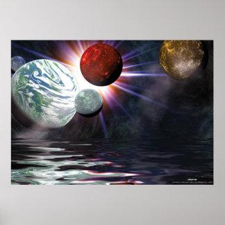 espacio exterior póster