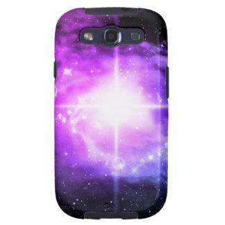 Espacio exterior púrpura samsung galaxy SIII funda