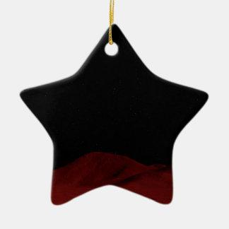 Espacio exterior rojo adorno de cerámica en forma de estrella