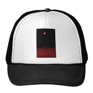 Espacio exterior rojo gorros bordados