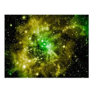 Espacio exterior verde postales