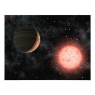 Espacio extranjero del planeta de la estrella enan fotografía