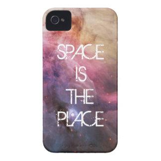Espacio fresco de las estrellas de la nebulosa de  iPhone 4 Case-Mate protector