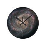Espacio fresco de las estrellas de la nebulosa de  relojes de pared