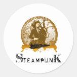 Espacio galón del steampunk del Victorian Pegatinas Redondas