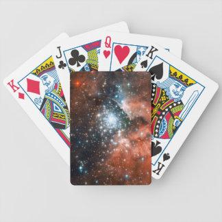 Espacio gigante del cúmulo de estrellas de la nebu cartas de juego