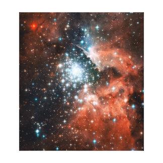 Espacio gigante del cúmulo de estrellas de la nebu impresión de lienzo