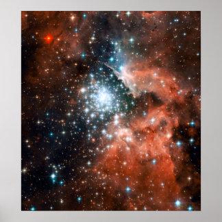 Espacio gigante del cúmulo de estrellas de la nebu impresiones