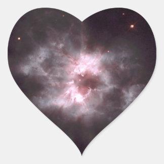 Espacio Hubble de la nebulosa NGC 2440 Calcomania De Corazon