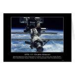 Espacio internacional Stationview de NASA STS-111 Tarjetas
