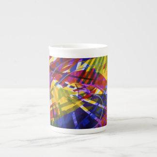 Espacio interno - corrientes abstractas del arco i taza de china