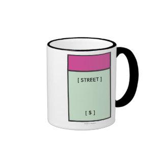 Espacio magenta taza de dos colores