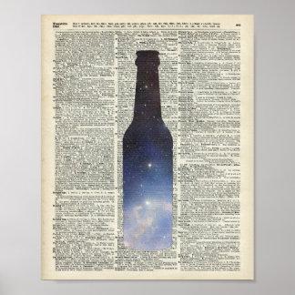 Espacio mágico de la cerveza sobre la página del póster