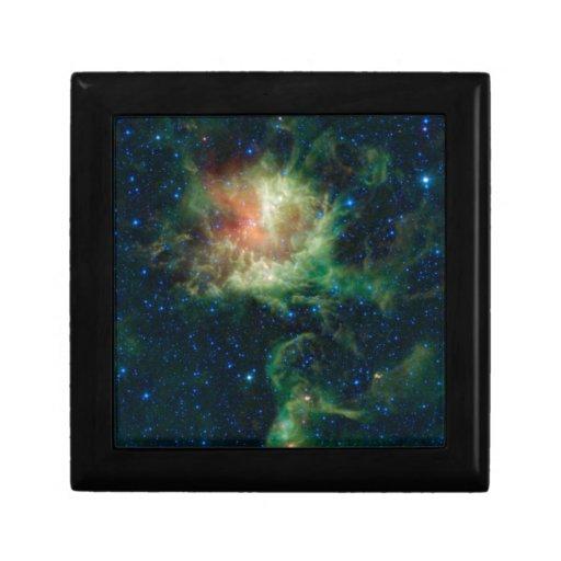 Espacio-NGC 281, caja de la nebulosa de Pacman Joyero Cuadrado Pequeño