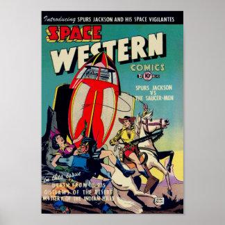 """""""Espacio occidental"""" de arte cómico de la época do Póster"""