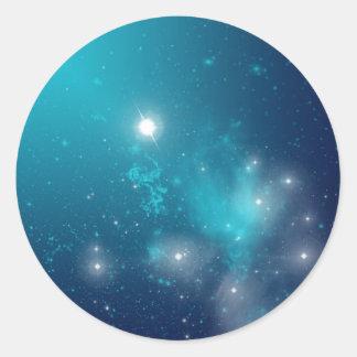 espacio pegatina redonda