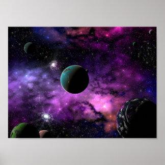 Espacio planetario impresiones