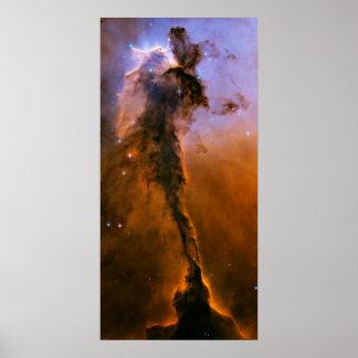 Espacio, poster de la nebulosa de Eagle Póster