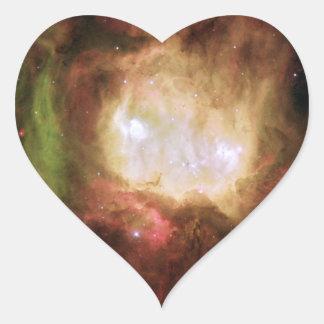 Espacio principal de la nebulosa del fantasma calcomania corazon personalizadas