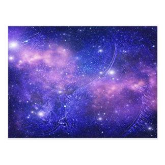 Espacio profundo azul postal